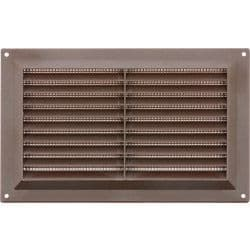 """Map Brown Louvred Vent (with Fixed Flyscreen) - Opening Size: 9"""" x 6"""" - 229 x 152mm"""